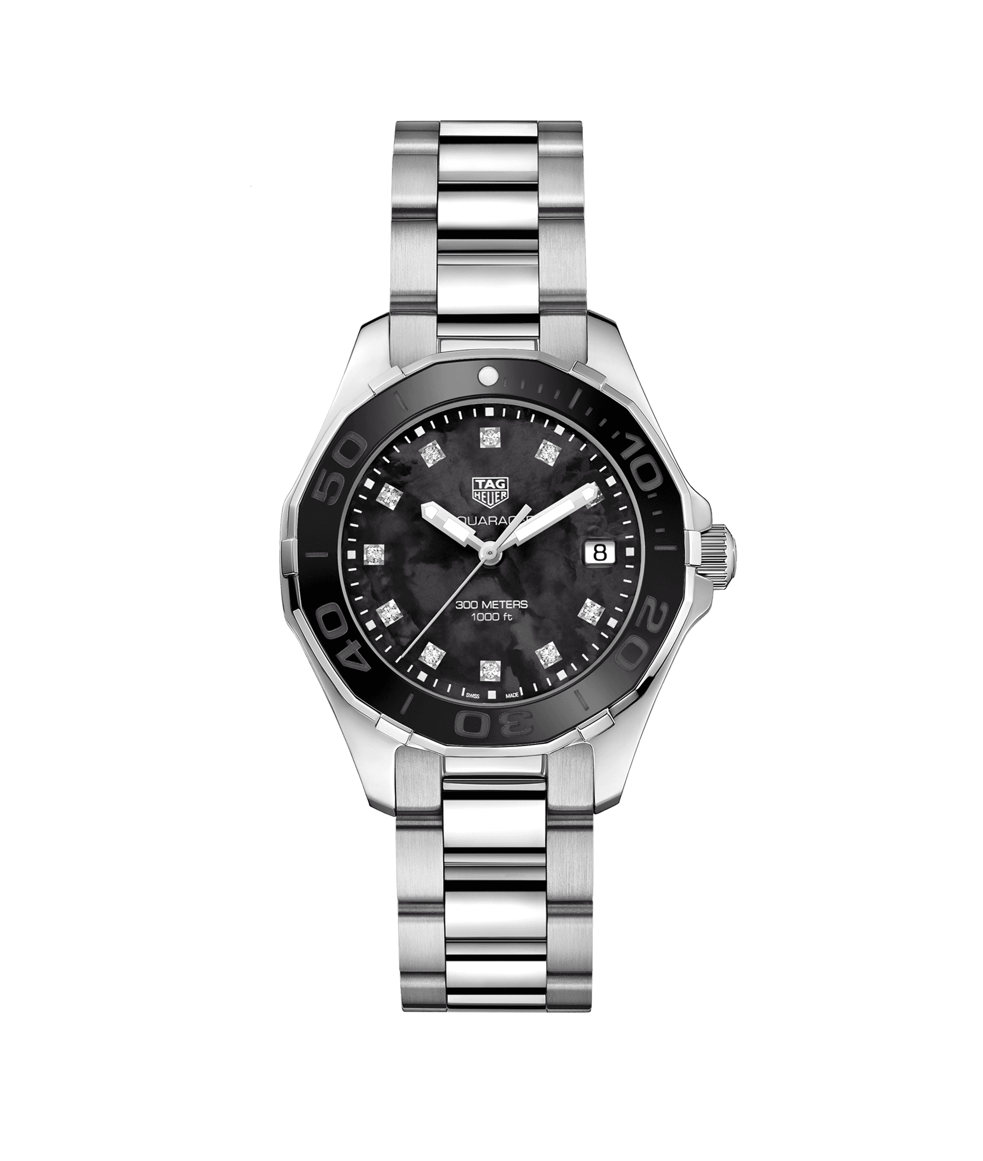 TAG HEUER AQUARACER 300m - 35mm BLACK CERAMIC BEZEL - WAY131M.BA0748