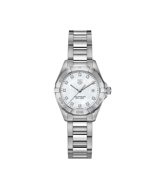 TAG HEUER AQUARACER 300m - 27mm QUARTZ DIAMOND DIAL - WAY1413.BA0920