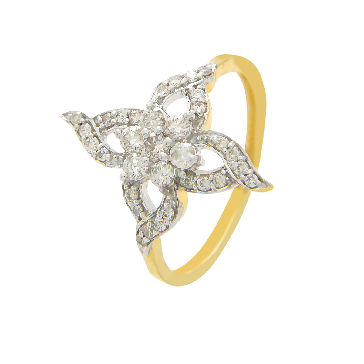 Diamond Ids 18K Yellow Gold Diamonds Ring - DID4515
