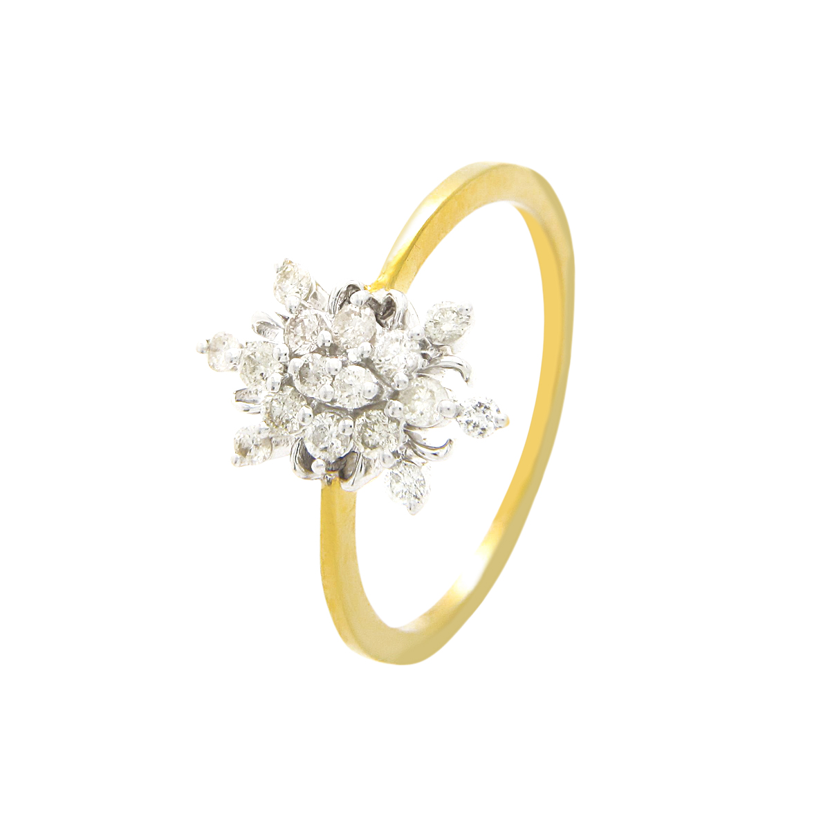 Diamond Ids 18K Yellow Gold Diamonds Ring - DID4516