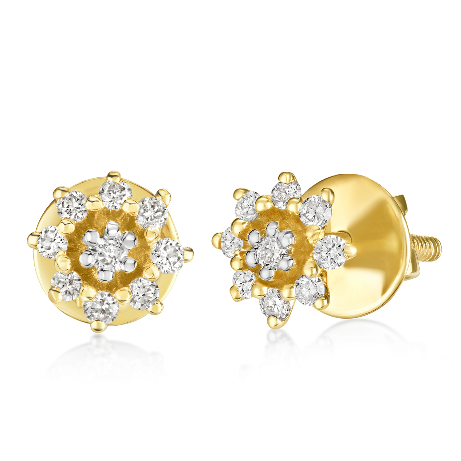 VFM 14K Yellow Gold Diamonds Earring - VFM438