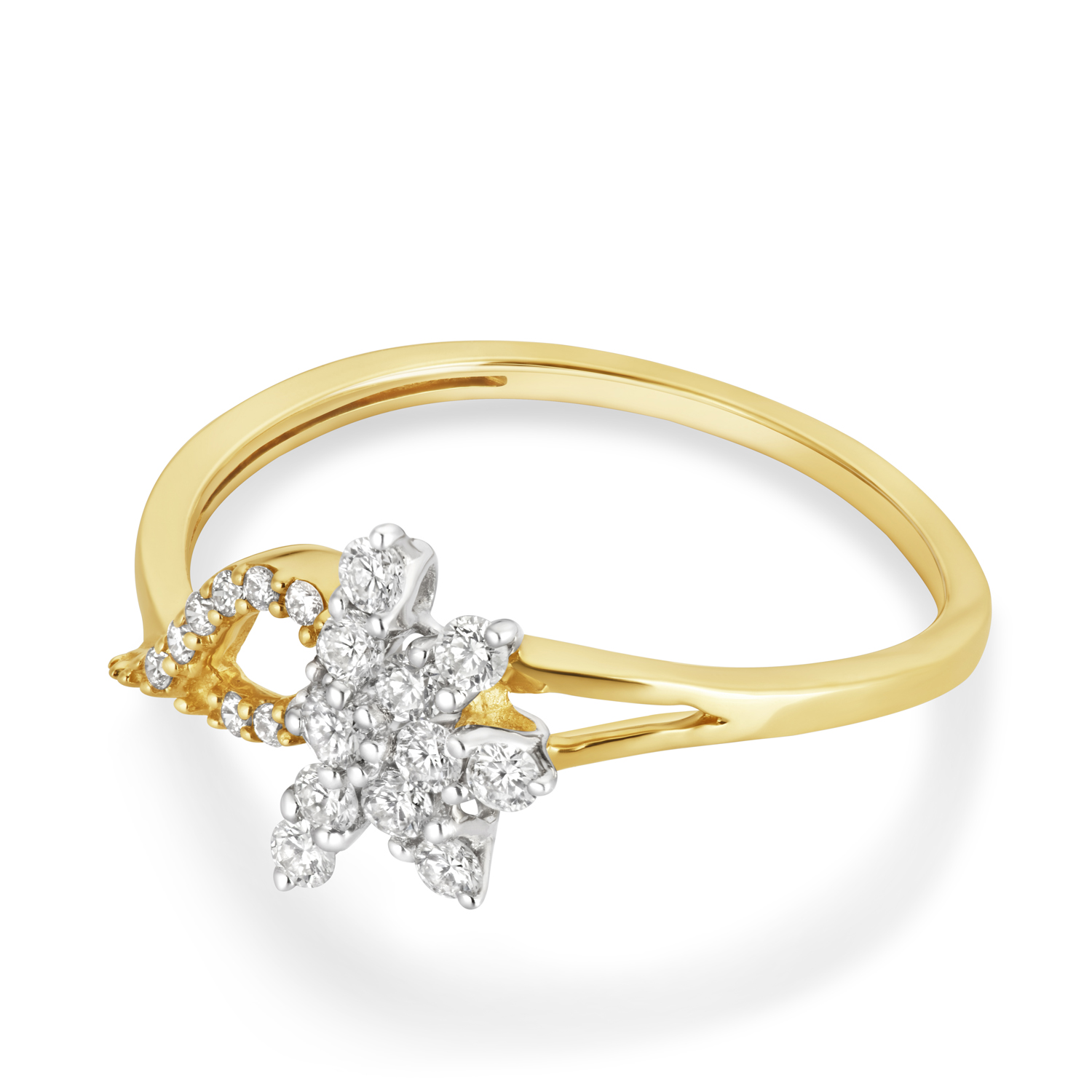 VFM 14K Yellow Gold Diamonds Ring - VFM466