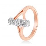 VFM 14K Rose Gold Diamonds Ring - VFM479