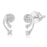 VFM 14K White Gold Diamonds Earring - VFM440