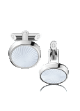 OMEGA CONSTELLATION CUFFLINKS Stainless steel and engraved Mother-of-Pearl - CA01ST0700105