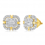 Ice Cubes 18K Yellow Gold Diamonds Earring - ICE442