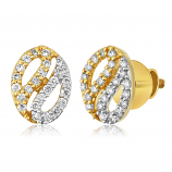 VFM 14K Yellow Gold Diamonds Earring - VFM450