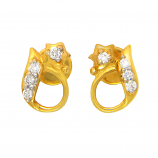 Diamond Ids 18K Yellow Gold Diamonds Earring - DID1646