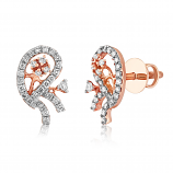 VFM 14K Rose Gold Diamonds Stud Earrings - VFM487