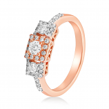 VFM 14K Rose Gold Diamonds Ring - VFM486