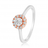 VFM 14K Rose & White Gold Diamonds Ring - VFM476