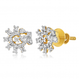 VFM 14K Yellow Gold Diamonds Earring - VFM451