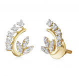 VFM 14K Yellow Gold Diamonds Earring - VFM443