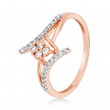 VFM 14K Rose Gold Diamonds Ring - VFM497