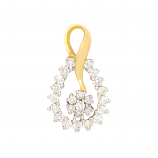 VFM 18K Yellow Gold Diamonds Pendant - VFM364