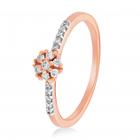 VFM 14K Rose Gold Diamonds Ring - VFM498
