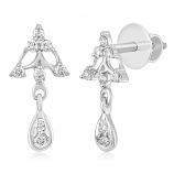 VFM 14K White Gold Diamonds Earring - VFM441