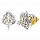 VFM 14K Yellow Gold Diamonds Earring - VFM433