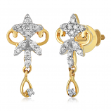 VFM 14K Yellow Gold Diamonds Earring - VFM435