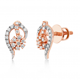 VFM 14K Rose Gold Diamonds Stud Earrings - VFM482