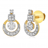 VFM 14K Yellow Gold Diamonds Earring - VFM432