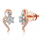 VFM 14K Rose Gold Diamonds Stud Earrings - VFM477