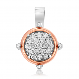 Emotions 18K White/Rose Gold Diamonds Pendant - EMO2459