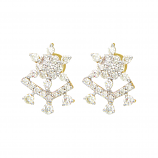 VFM 18K Yellow Gold Diamonds Earring - VFM379