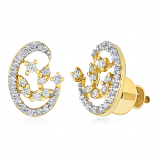 VFM 14K Yellow Gold Diamonds Earring - VFM436