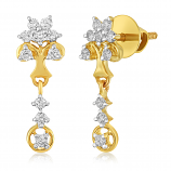 VFM 14K Yellow Gold Diamonds Earring - VFM449