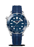 Omega Seamaster DIVER 300M CO-AXIAL MASTER CHRONOMETER 42MM Steel on rubber strap - 210.32.42.20.03.001