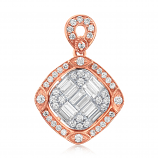 Ice Cubes 18K Rose Gold Diamonds Pendant - ICE426