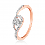 VFM 14K Rose Gold Diamonds Ring - VFM499