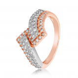 VFM 14K Rose Gold Diamonds Ring - VFM480