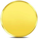 Popley 24Kt Yellow Gold 995 Purity 1 Gram Coin