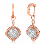 Ice Cubes 18K Rose Gold Diamonds Earring - ICE427