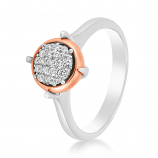 Emotions 18K White/Rose Gold Diamonds Ring - EMO2461