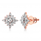VFM 14K Rose Gold Diamonds Stud Earrings - VFM490