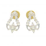 VFM 18K Yellow Gold Diamonds Earring - VFM378