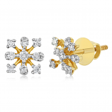 VFM 14K Yellow Gold Diamonds Earring - VFM431