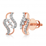 VFM 14K Rose Gold Diamonds Stud Earrings - VFM495