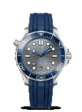 Omega Seamaster DIVER 300M CO-AXIAL MASTER CHRONOMETER 42MM Steel on rubber strap - 210.32.42.20.06.001