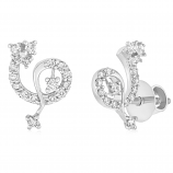 VFM 14K White Gold Diamonds Earring - VFM439