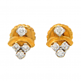 Diamond Ids 18K Yellow Gold Diamonds Earring - DID1618